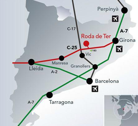 Mapa Fundiciones de Roda